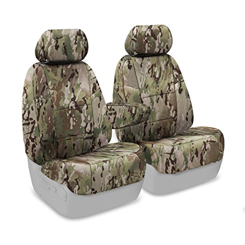 Coverking Front 50/50 Bucket Custom Fit Seat Cover For Select Land Rover Range Rover Models - Cordura Ballistic (Multicam) front-1078839