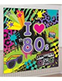 Totally 80s Giant Scene Setter Wall Decorating Kit Birthday Party
