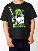 Kinder T-Shirt MY Yoda Shirt this is Star wars Krieg der Sterne Fun Shirt schwarz E158-kids