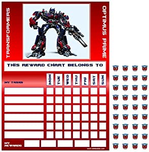 Transformers Optimus Prime Good Behaviour Reward Task