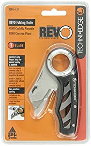 Techni Edge 03-731 REVO Folding Utility Knife (Black or Gray, Color Varies)