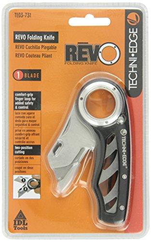 Techni-Edge-03-731-REVO-Folding-Utility-Knife-Black-or-Gray-Color-Varies