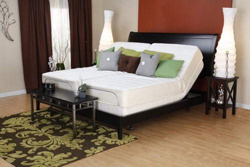Prodigy 2.0 Adjustable Split King Bed Set Sleep System Leggett & Platt, With Luxury 12-Inch GEL Memory Foam Mattress (manufactured by gelfoambed)