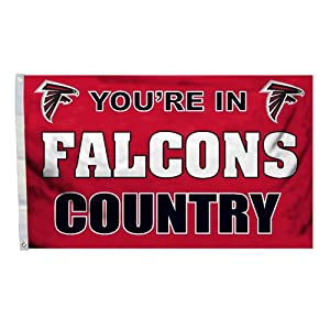 NFL Atlanta Falcons Country 3-by-5 Feet Flag with Grommetts by BSI