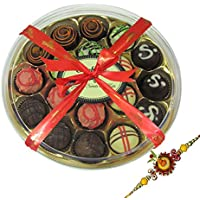 Rakhi Gift For Brother - Love For Brother Chocolate Truffle Box With Rakhi - Chocholik Belgium Chocolates