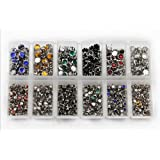 900 Pieces Mixed Size & 6 Color Refill Kit for Bedazzler