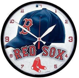 MLB Boston Red Sox Round Clock