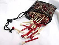"Insignia Pro 200 Piece 2 3/4"" Wood Tees (Red) with Mesh Carry Bag"
