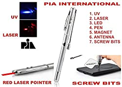 7 FUNCTION RED LASER POINTER -PIA INTERNATIONAL