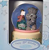 Me to You 21st Birthday Teddy Holding Champagne 65mm Water Globe/Snow Globe
