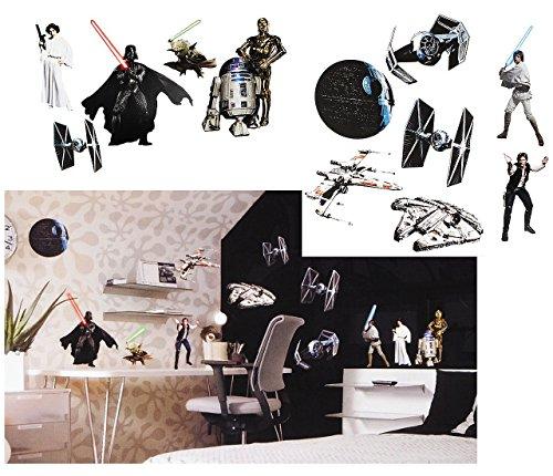 12 st ck xl wandsticker star wars darth vader. Black Bedroom Furniture Sets. Home Design Ideas