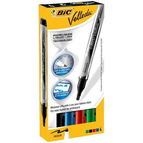Marcatore Velleda liquido pocket Bic - Pocket - assortito - 4,2 mm - 902094 (conf.4)