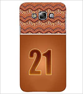 PrintDhaba Numerology Number 21 D-3656 Back Case Cover for SAMSUNG GALAXY E7 (Multi-Coloured)