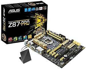Asus Z87-PRO Mainboard Sockel LGA 1150 (ATX, Intel Z87, 4x DDR3 Speicher, HDMI, DVI-D, RJ-45, 8x SATA III, 6x USB 3.0)