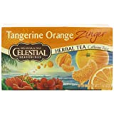 Celestial Seasonings Herb Tea, Tangerine Orange Zinger, 20-Count Tea Bags (Pack of 6)
