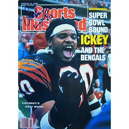 Woods, Ickey 1/16/89 autographed magazine promo code 2015