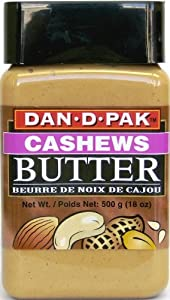 Dan-D-Pak Cashew Butter, 18-Ounce Plastic Jars (Pack of 4)