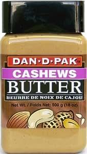 Dan-D-Pak Cashew Butter, 18-Ounce Plastic Jars (Pack of 4)