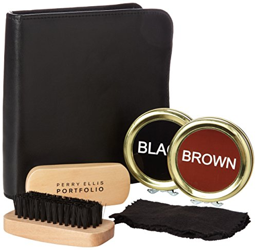 Perry Ellis Men's Shoe Shine Kit, Flat Shoes, One Size (Perry Shoes compare prices)