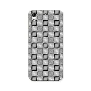 ArtzFolio Monochrome Squares : HTC Desire 728G Dual Sim Matte Polycarbonate ORIGINAL BRANDED Mobile Cell Phone Protective BACK CASE COVER Protector : BEST DESIGNER Hard Shockproof Scratch-Proof Accessories