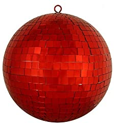 Huge Lust Red Mirrored Glass Disco Ball Christmas Ornament 12&quot; (300mm)