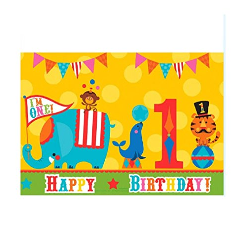 Fisher Price 1st Birthday Circus Plastic Table Cover