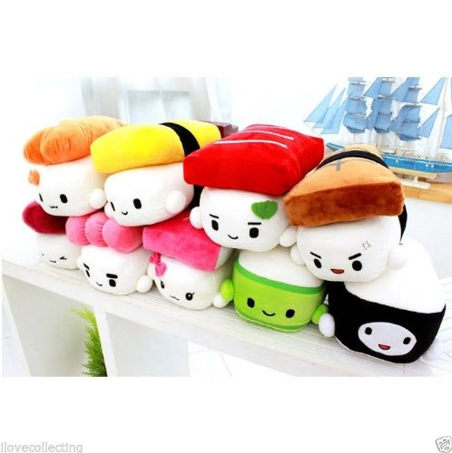 Find Discount SUSHI 6 (15cm) Cute Plush Pillow Cushion Doll x9 SET Toy Gift Bedding Room Decoration...