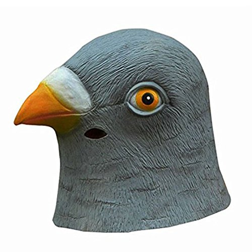 Silvercell Latex Mask Halloween Pigeon Head Creepy Costume Prop