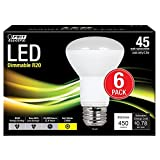 Feit Electric 45W Equivalent Soft White R20 Dimmable LED Light Bulb (6-Pack