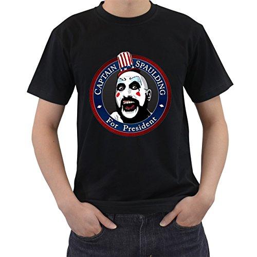 [Captain Spaulding For President T-Shirt Short Sleeve By Saink Black Size S] (Afro Samurai Bear Costume)