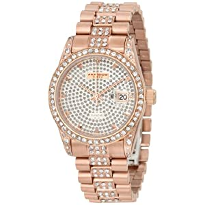 Akribos XXIV Men's AK486RG Diamond Quartz Rose-Tone Stainless Steel Bracelet Watch