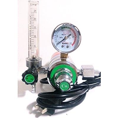 "Warrior 1pc Inner Thread 220V CO2 Gas Regulator Flowmeter With Heater G5/8""-14 Inlet M12x1 Outlet for MIG/MAG Welding"