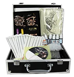 professional tattoo kit 4 machine guns power