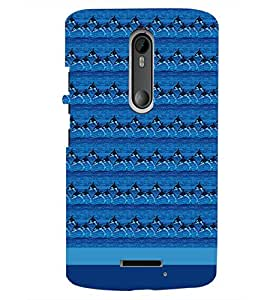 PrintDhaba Dolphin Pattern D-1854 Back Case Cover for MOTOROLA MOTO X3 (Multi-Coloured)