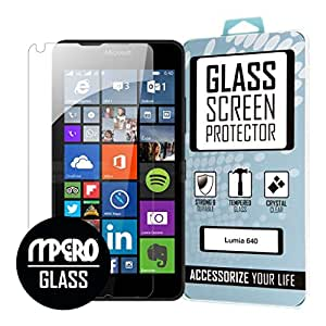 Microsoft Lumia 640 GLASS Screen Protector Case Cover, Tempered Glass 1-Pack - MPERO