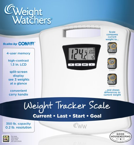 weight watchers by conair compact tracker scale white health beauty health care biometric. Black Bedroom Furniture Sets. Home Design Ideas