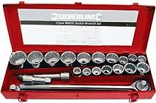 Comprar Silverline 633663 - Juego de vasos para llaves (tamaño: 3/4pulgadas, pack de 21)