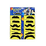 SODIAL- 12 Pack Self Adhesive Assorted Fake Moustache / Mustache Set Fancy Dress Party Birthday Stylish