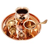 Puja Thali For Hindu Temple Rituals Set, Gift & Indian Decorative