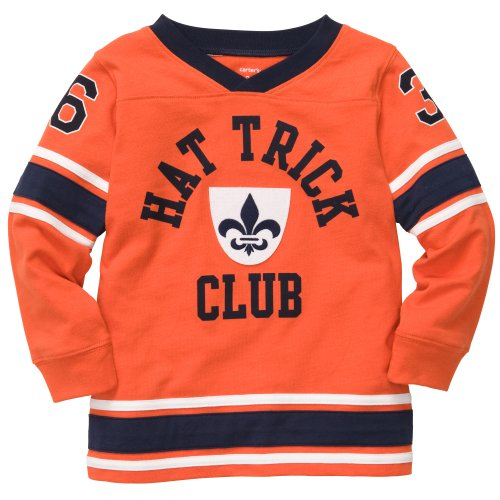 "Carter's Boys' L/s ""Hat Trick Club"" Shirt (Orange) (5 Kids)"