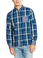 Desigual Camisa Hombre Alone Rep (Azul)