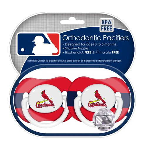 MLB St. Louis Cardinals Pacifiers, 2-Pack at Amazon.com