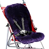 Sillita de paseo Piel de cordero Depósito violeta