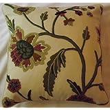 Crewel Pillow Sham Shalimar Sweet Pine Cotton Duck1 (16X16)