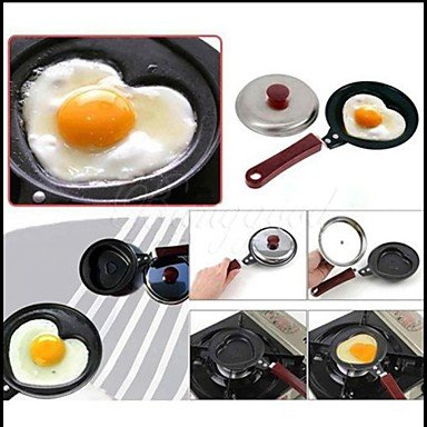 Heart Shaped Mini Non-stick Egg Frying Fried Pan Omelette BOYI B00TEMYV5A