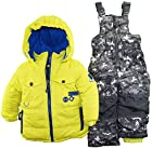 Rugged Bear Little Boys Winter 2 Piece Snowsuit in Camo with Ski Pant Set