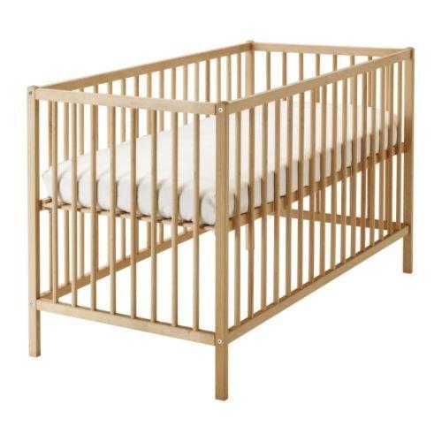 Aspelund Ikea Kleiderschrank ~ IKEA verstellbares Babybett SNIGLAR Bettchen in 60x120cm Gitterbett
