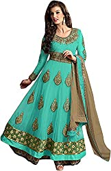 RADHE STUDIO Women's Georgette Unstitched Anarkali Dress Material (RSVIRTFH-3552)
