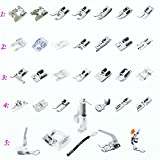 Estone 1 Set 32pcs Presser Foot Feet For Brother Singer Domestic Janome Sewing Machine (32pcs Presser Foot)