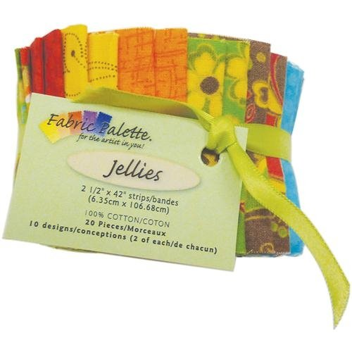Fabric Palette 2-1/2-Inch by 42-Inch Cuts Jellies 100-Percent Cotton, 20-Pack, Down Home Traditions